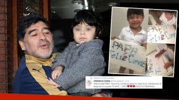 El mensaje súper tierno de Dieguito Fernando a Maradona por su cumple: Te amo, papá