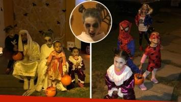 """El divertido festejo de Halloween de Cinthia Fernández con sus hijas: """"No perdamos nunca esta locura que tenemos"""""""