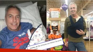 La foto de Marley, de compras con su hijo Mirko, a 5 días de su nacimiento (Fotos: Instagram)