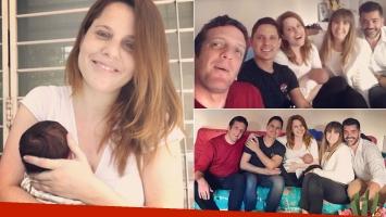 La primera visita famosa que recibió Agustina Kämpfer y su hijo, Juan: Van cayendo sus tíos de la vida