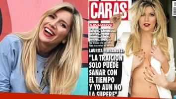 Laurita Fernández se tomó con humor su tapa en topless con las manos de otra mujer: Mejor título sería estoy...