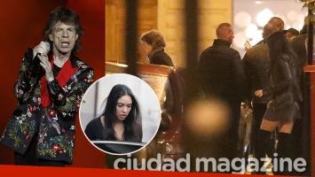 Mick Jagger en una cena romántica con su novia 52 años más joven: las primeras fotos de la pareja en París