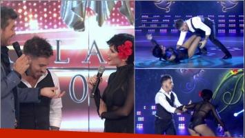 El tango de Fede Bal y Laurita Fernández que terminó con una caída en Bailando 2017