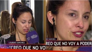 Lourdes Sánchez rompió en llanto al contar que no podía bailar en ShowMatch