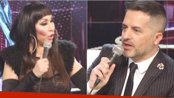 La propuesta teatral de Moria Casán a Ángel de Brito en el vivo de ShowMatch (Fotos: Captura)
