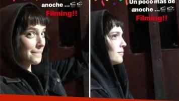 Luisana Lopilato mostró el cambio de look para el rodaje de Perdida: su flequillo rollinga