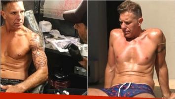 El elaborado y enorme tatuaje de Alejandro Fantino en el brazo (Fotos: Instagram)