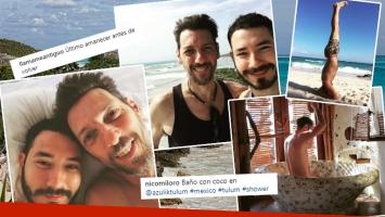 Las paradisíacas vacaciones de Humberto Tortonese con su joven novio en México y Belice: mimos, yoga playero y baño...