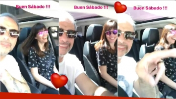 ¡Fin de semana juntos! El divertido paseo en auto de Jorge Rial y Romina Pereiro (Fotos: Captura de video de Instagram Stories)
