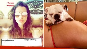 ¡Mujer real! China Suárez, tierna foto de su panza embarazada y fuerte mensaje contra las críticas: