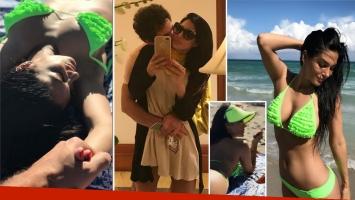 Las románticas vacaciones de Silvina Escudero y su misterioso novio en Miami: No molestar