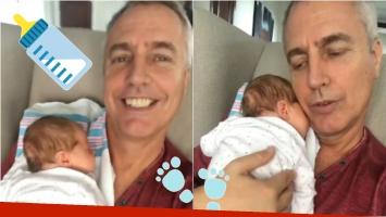 El video súper tierno de Marley con su hijo: Post mamadera