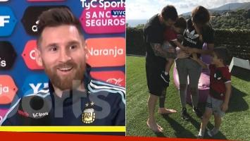 Lionel Messi ya piensa en el cuarto hijo