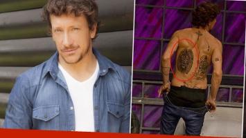 """El nuevo y enorme tatuaje de Nico Vázquez en la espalda: """"El león y el samurai van de la mano"""