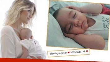 La foto súper tierna de la hija de Brenda Gandini y Gonzalo Heredia: No molestar