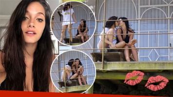 Oriana Sabatini, a los besos con una chica en Uruguay
