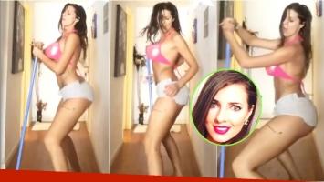 El baile hot de Tamara Bella mientras limpia su casa: Le meneo a la escoba