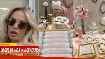 La felicidad de Luciana Salazar en el baby shower de su hija: Estoy muy contenta, disfrutando de toda mi gente