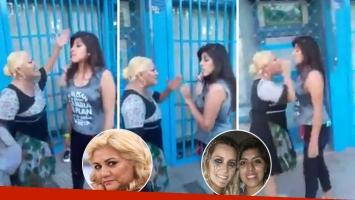 El video del cara a cara de la Bomba con una fan de Micaela Viciconte