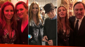Analía Franchín con Woody Allen, Kate Winslet y Jim Belushi