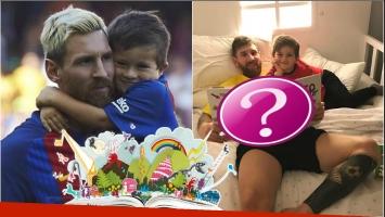 La tierna imagen de Lionel Messi leyéndole un libro infantil a su hijo sobre cómo canalizar la hiperactividad