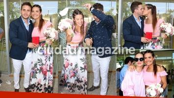 Mica Vázquez se casó con Federico Larroca: los looks de la pareja y los invitados famosos