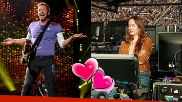 Dakota Johnson, como una fan más de Chris Martin en el show de Coldplay en Argentina