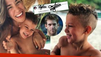 Jimena Barón y el cambio de look 'forzado' de su hijo
