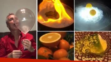 La cena de lujo de Marley en un restaurante de comida experimental: ¡El postre es un globo comestible!