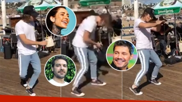 El desopilante video del baile de Franco Masini en California