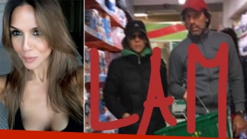 Laura Miller y Nicolás Traut, juntos en un supermercado