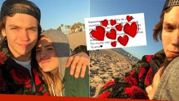¡Qué poeta! El romántico mensaje de Franco Masini a Cande Tinelli tras sus vacaciones en Estados Unidos: Sos una...