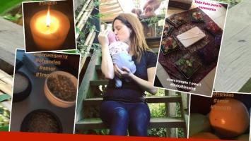El especial ritual de Agustina Kämpfer para celebrar el primer mes de vida de su hijo