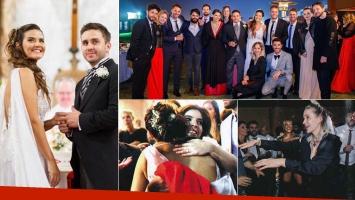 El álbum del festejo íntimo del casamiento de Micaela Vázquez y Federico Larroca: muchos famosos y diversión