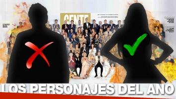 Escándalo en la tapa de Los Personajes del Año de la revista Gente