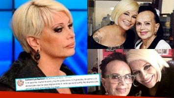 El desgarrador mensaje de Carmen Barbieri a su mamá por su delicado estado de salud: Si tenés ganas te suelto