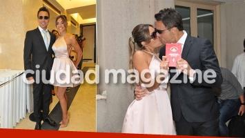 Se casaron Floppy Tesouro y Rodrígo Fernández Prieto