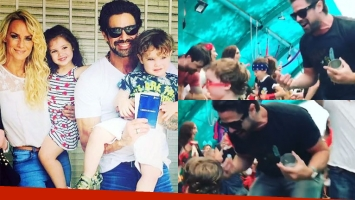 Luciano Castro y su alocado baile en la fiesta de fin de año del jardín de sus hijos