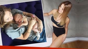 Jésica Cirio a casi dos meses de dar a luz a su hija