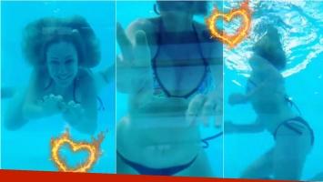 Inés Estévez, muy diosa en el agua y en bikini