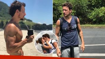 ¡Galán matero! El lomazo de Nico Vázquez en las playas de Nueva Zelanda y el tierno piropo de Gimena Accardi