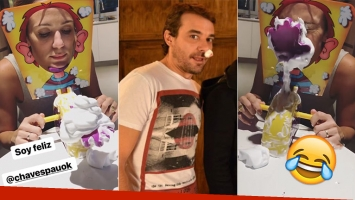 El divertido duelo de 'pastelazos' entre Pedro Alfonso y Paula Chaves