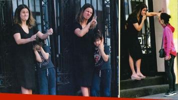 Nancy Dupláa entrecasa total y y mami full time: diosa a cara lavada y en sandalias