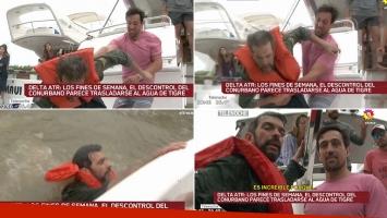 El video de la agresión a Martín Ciccioli durante una nota: fue arrojado violentamente desde un yate al río