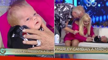 Marley presentó a Mirko en el living de Susana Giménez ¡y la diva le cambió los pañales en vivo!