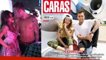 Charlotte Caniggia y Niels Houweling la nueva pareja top. Foto: Twitter y revista Caras
