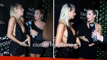 El picante cara a cara de Sol Pérez y Noelia Marzol en la presentación de la temporada de Carlos Paz