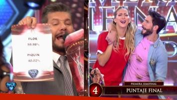 Flor Vigna ganó el voto telefónico y empató la primera semifinal de Bailando 2017, tras ir perdiendo 4 a 0 con...