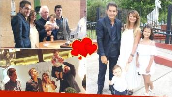 Amalia Granata y Leo Squarzon bautizaron a su hijo a un año de su nacimiento: Gracias Dios por esta familia hermosa