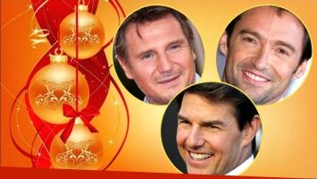 Los famosos de Hollywood también se envían tarjetas navideñas